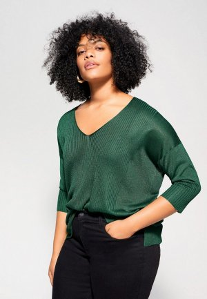 Пуловер Violeta by Mango. Цвет: зеленый