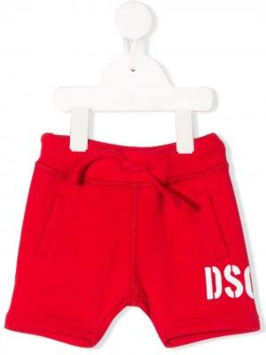 Шорты с логотипом Dsquared2 Kids. Цвет: красный