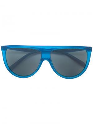 Солнцезащитные очки Thin Shadow Celine Eyewear. Цвет: синий