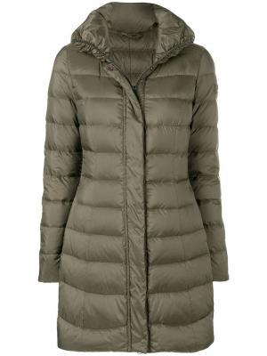 Padded mid-length coat Peuterey. Цвет: зеленый