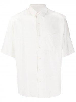Рубашка с короткими рукавами AMI Paris. Цвет: белый