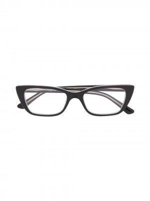 Очки в оправе кошачий глаз Vogue Eyewear. Цвет: черный