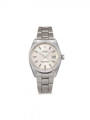 Наручные часы Date pre-owned 34 мм 1974-го года Rolex. Цвет: серебристый