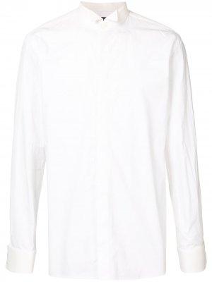 Рубашка с воротником-бабочкой Balmain. Цвет: белый