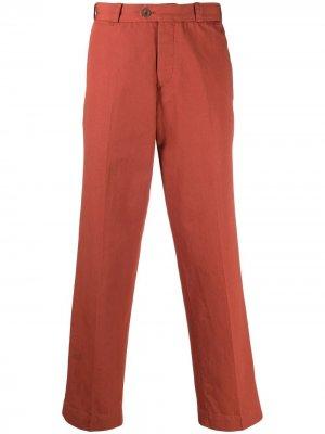 Брюки строгого кроя со складками Pt01. Цвет: оранжевый