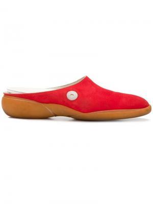 Туфли модели слип-он Louis Vuitton Vintage. Цвет: красный