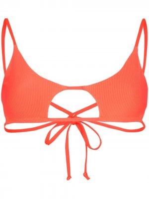 Лиф бикини Willa с вырезами Frankies Bikinis. Цвет: оранжевый