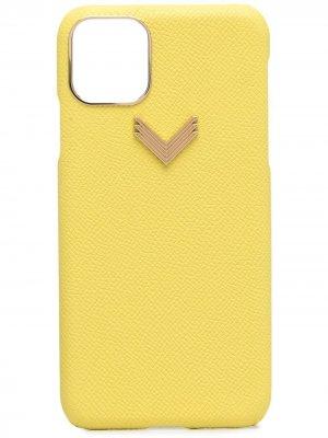 Чехол для iPhone 11 Pro Max с металлической пряжкой Manokhi. Цвет: желтый