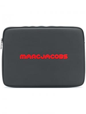 Чехол для ноутбука с принтом логотипа Marc Jacobs. Цвет: черный