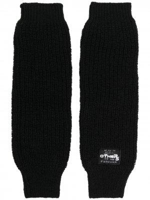 Перчатки с нашивкой-логотипом Raf Simons. Цвет: черный
