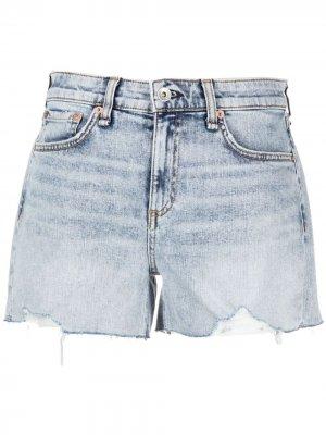 Джинсовые шорты Rag & Bone. Цвет: синий