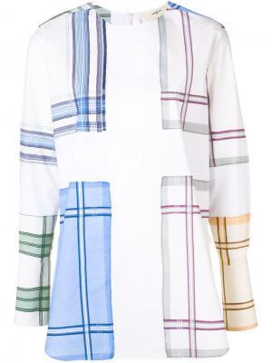 Рубашка с узором в клетку Ports 1961. Цвет: белый