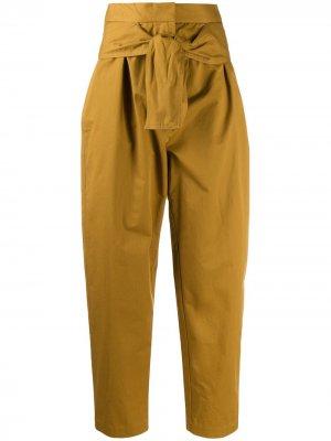Зауженные брюки Espionage Obi Drill Zimmermann. Цвет: желтый