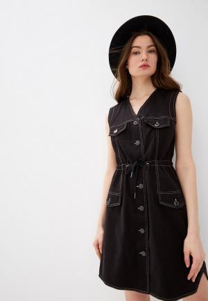 Платье джинсовое See by Chloe. Цвет: черный