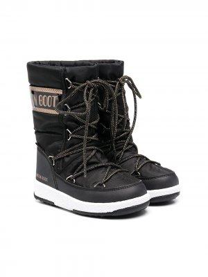 Зимние сапоги Mid Waterproof Nylon Moon Boot Kids. Цвет: черный