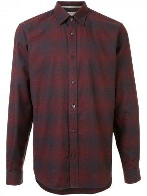 Клетчатая рубашка с длинными рукавами Gieves & Hawkes. Цвет: красный
