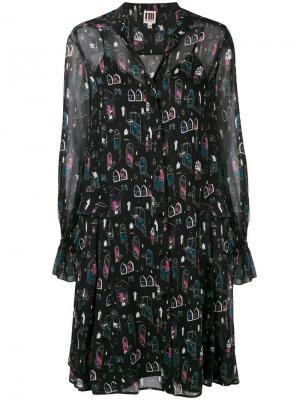 Printed midi dress I'M Isola Marras. Цвет: черный