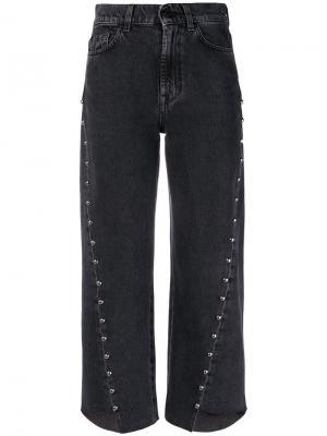 Cropped asymmetric jeans 7 For All Mankind. Цвет: черный
