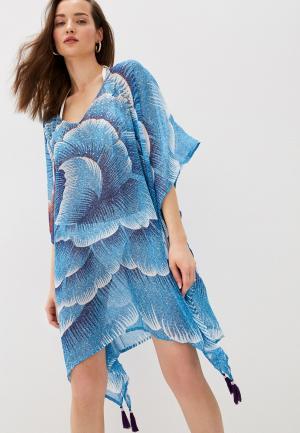 Туника пляжная Allegri. Цвет: голубой
