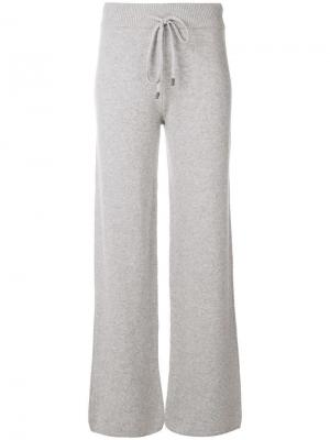 Трикотажные спортивные брюки Peserico. Цвет: серый