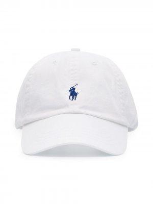 Кепка с вышитым логотипом Polo Ralph Lauren. Цвет: белый