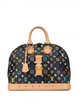 Сумка-тоут Alma GM 2011-го года pre-owned Louis Vuitton. Цвет: черный