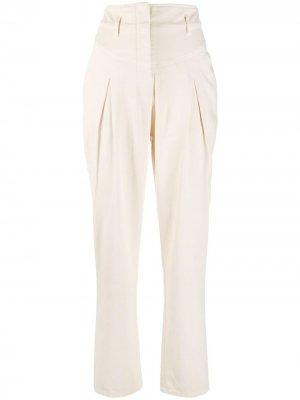 Зауженные брюки Alberta Ferretti. Цвет: нейтральные цвета