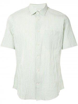 Durban полосатая рубашка с короткими рукавами D'urban. Цвет: зеленый