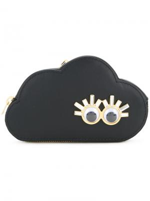 Кошелек Cloud для монет Sophie Hulme. Цвет: чёрный