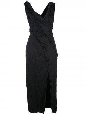 Платье миди со сборками Jason Wu Collection. Цвет: черный