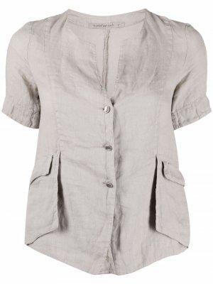 Рубашка с короткими рукавами Transit. Цвет: серый