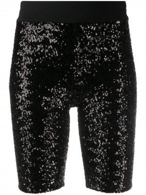 No Ka Oi облегающие шорты с пайетками Ka'. Цвет: черный
