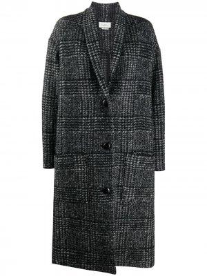 Пальто в клетку Isabel Marant Étoile. Цвет: черный