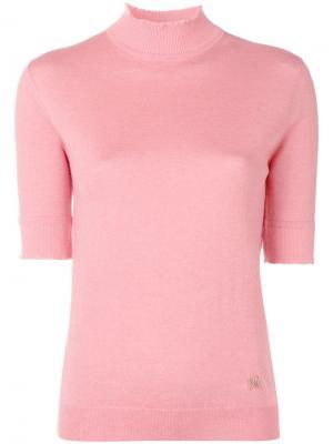 Turtleneck fine knit top Nina Ricci. Цвет: розовый