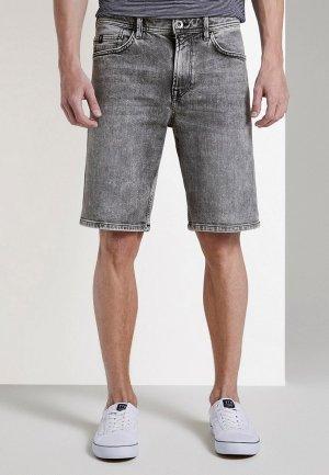 Шорты джинсовые Tom Tailor Denim. Цвет: серый