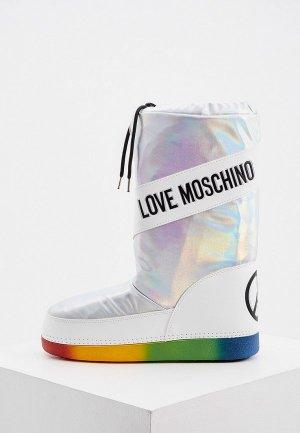 Луноходы Love Moschino. Цвет: серебряный