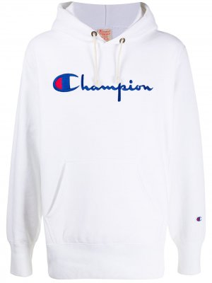 Худи с логотипом Champion. Цвет: белый