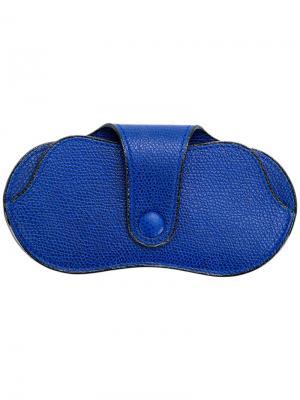 Футляр для солнцезащитных очков Valextra. Цвет: синий