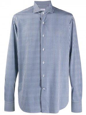 Полосатая рубашка с длинными рукавами Orian. Цвет: белый