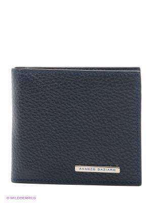 Бумажник с зажимом для денег Avanzo Daziaro. Цвет: синий
