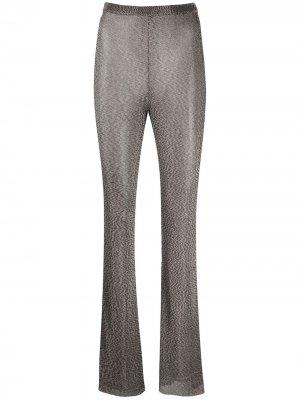 Расклешенные брюки с завышенной талией Mugler. Цвет: коричневый