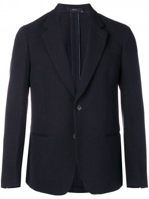 Приталенный костюмный пиджак PAUL SMITH. Цвет: синий