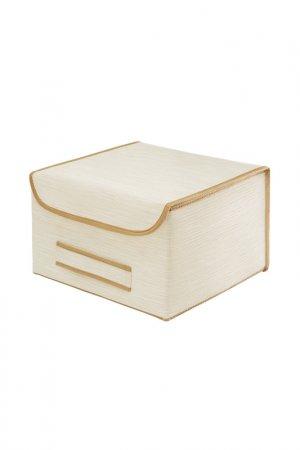 Коробка для хранения с крышкой CASY HOME. Цвет: белый