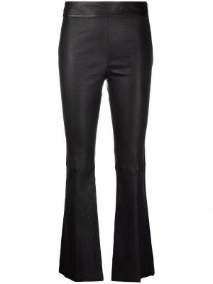 Расклешенные брюки Helmut Lang. Цвет: черный