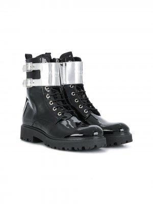 Ботинки на шнуровке Balmain Kids. Цвет: черный