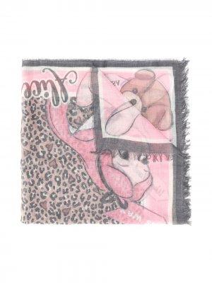 Платок Alice с принтом Monnalisa. Цвет: розовый