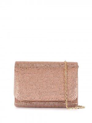 Клатч с кристаллами René Caovilla. Цвет: розовый