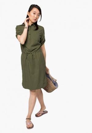 Платье Jack Wolfskin. Цвет: хаки