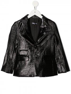 Декорированный пиджак Dsquared2 Kids. Цвет: черный