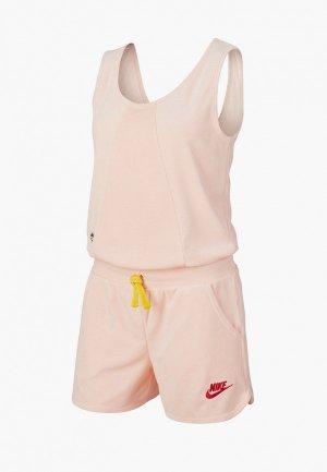 Комбинезон Nike. Цвет: розовый